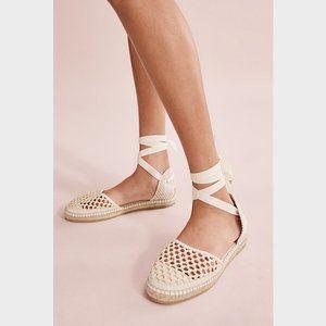 Country Road Cream Rita Flat Espadrilles Shoes 35